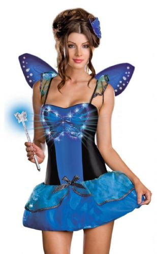 Blue Butterfly Beauty - Sexy Fancy Dress (Dreamgirl 6407)
